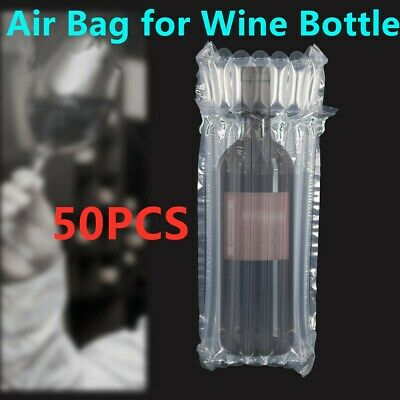 50pcs 7 Columns Inflatable Air Packaging Bubble Wrap Bags Wine Bottle Protective
