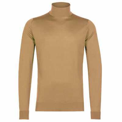 JOHN SMEDLEY RICHARDS Merino Wool Light Camel Pullover Size Small BNWT RRP £180