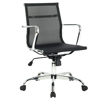 Modern Ergonomic Mid Back Office Chair Executive Computer Desk Task Chair Mesh