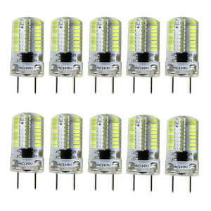 10pcs G8 Bi-Pin T5 64 3014 SMD LED Light Bulb Dimmable Lamp White 6500K/120V