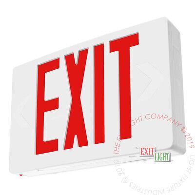 Red Led Exit Light Sign Standard Battery Backup Ul924 Fire Code Safety - Ledrbb