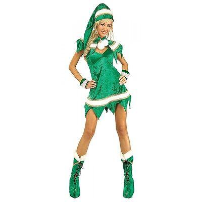Sexy Elf Costume Adult Womens Santa Helper Christmas Outfit Fancy Dress