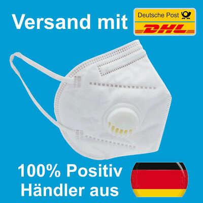 KN95 / FFP2 Mundschutzmaske mit Ventil, 3-LAGIG