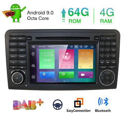 "64GB+4GB Android 9.0 NAVI DVD GPS 7"" HD Autoradio für Benz ML/GL-Class W164 X164"