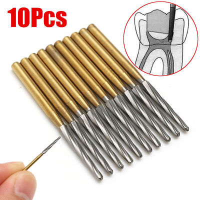 10pcs Dental Endo-z Burs 25mm Lab Drill Carbide Tungsten Steel Trim Finishing Fg