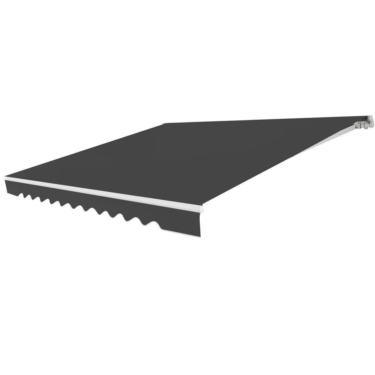 Markise mit kurbel Balkonmarkise Gelenkarmmarkise Sonnenmarkise 300x250cm