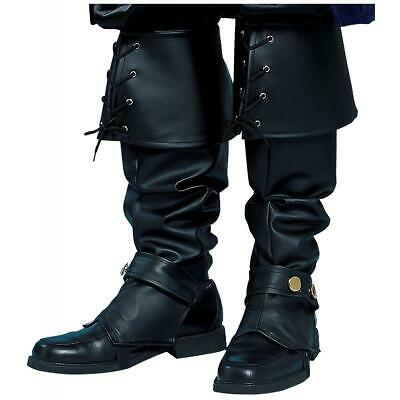 Mens Costume Shoes (MENS BOOTS SHOES SPATS TOPS COVERS PIRATE COLONIAL RENAISSANCE COSTUME)
