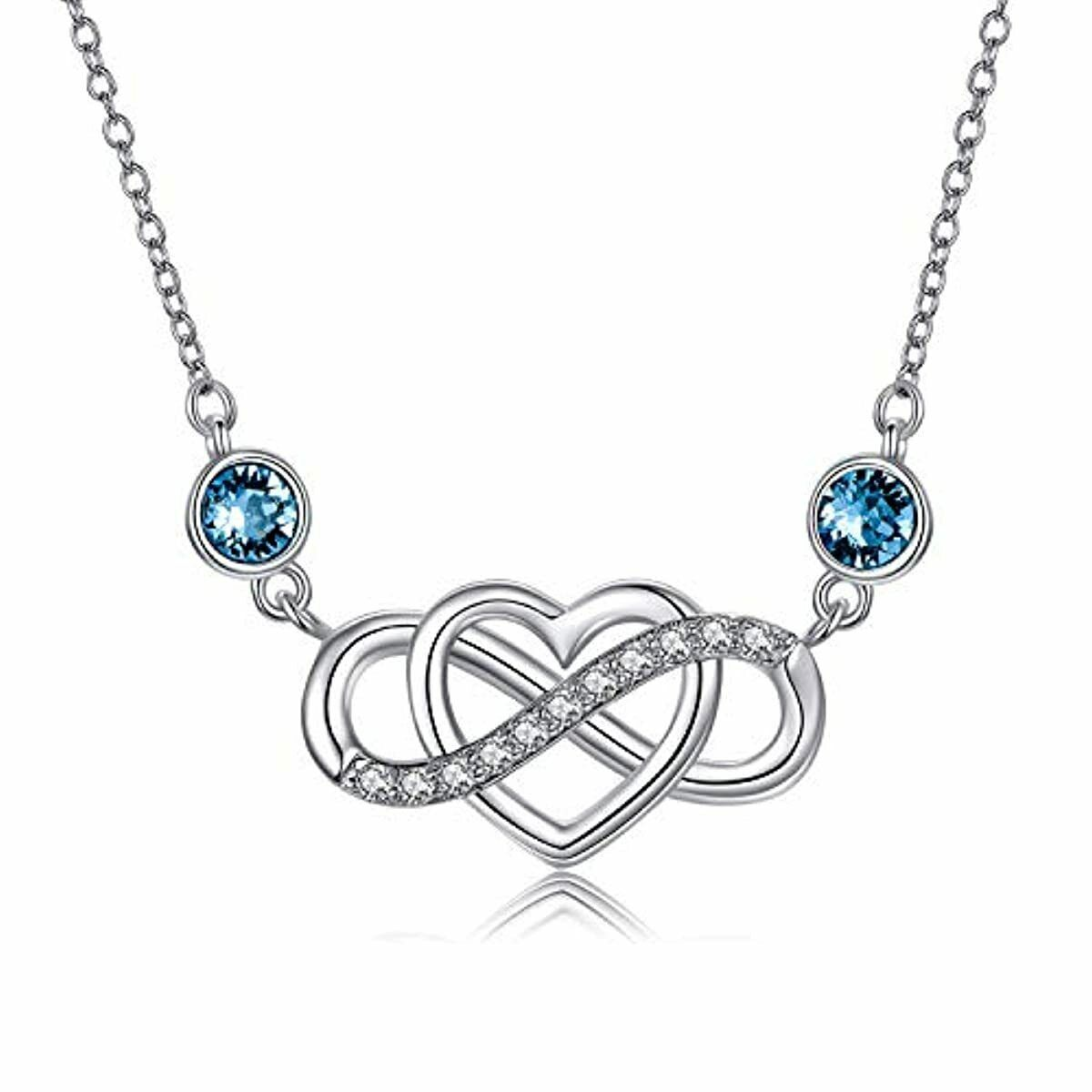 Sterling Silver Endless Love Pendant Necklace For Women Jewelry