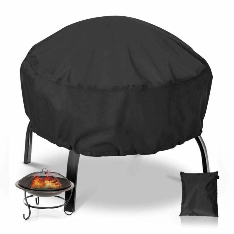 NASUM Fire Pit Cover Round 38x38 Inch Waterproof 420D Heavy