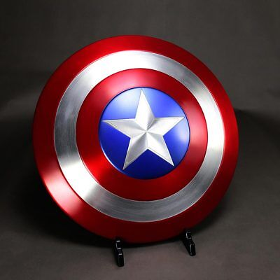 1:1 The Avengers Captain America Shield Metal Halloween Cosplay Props US Stock](Captain Americas Shield)