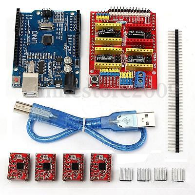 V 3.0 Engraver Cnc Shieldboarda4988 Stepper Motor Drivers For Uno R3 Arduino