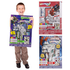 Themed Activity Art Kit For Kids Posters Markers Tattoos Bookmarks Party Favors