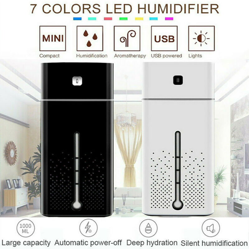 Oil Humidifier 1000ML 7 LED Essential Aroma Air Aromatherapy