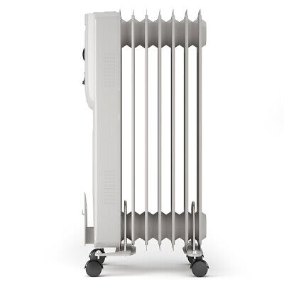 1500W Portable Radiator Heater 7-Fin Electric Oil Filled Hom