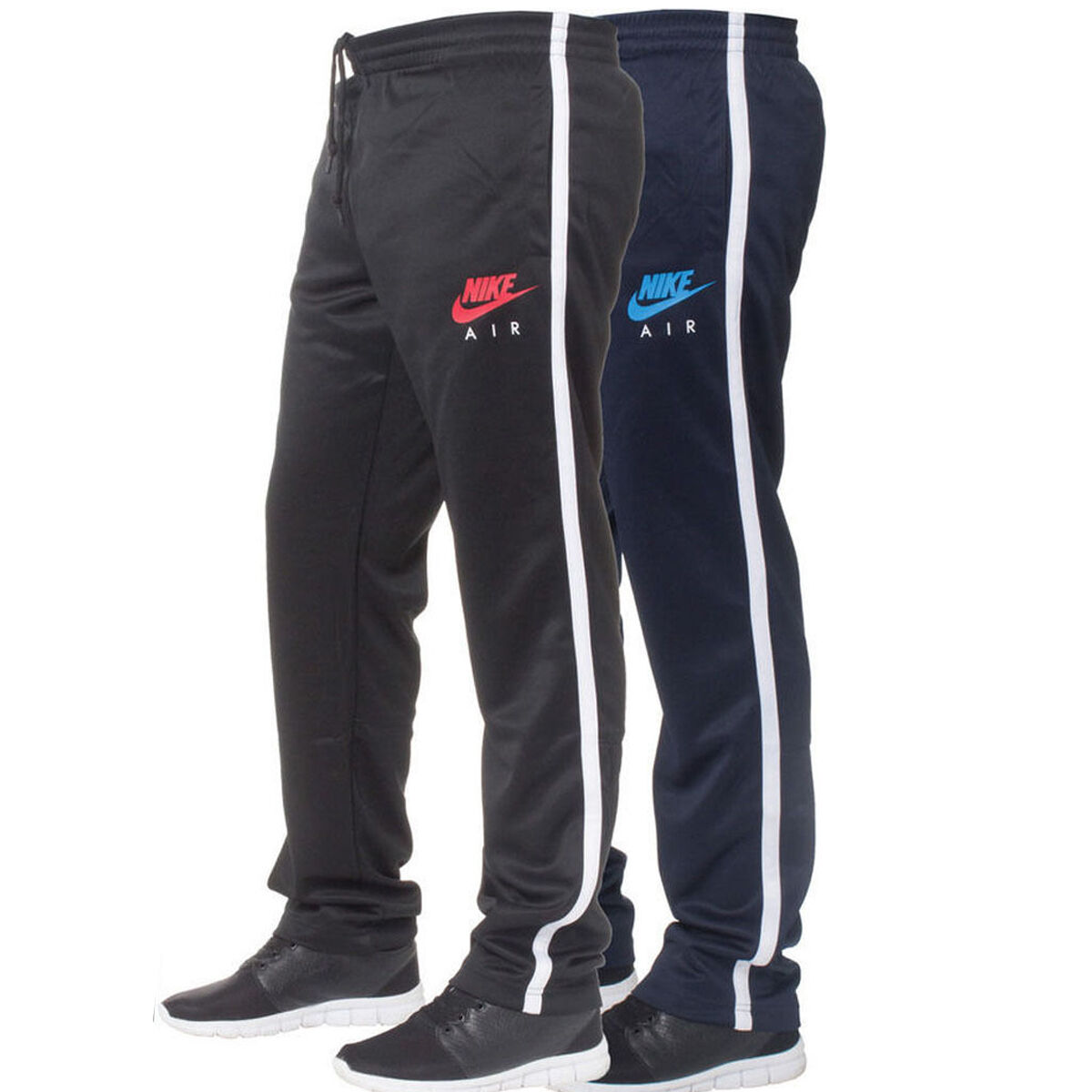 Navy Tracksuit Red Shoes