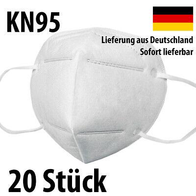 Premium Atemschutz Maske KN95 - Staub Schutzmasken Mundschutz - 20 Stück