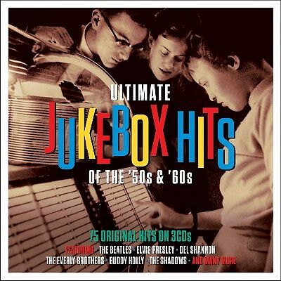 Ultimate Jukebox Hits Of The 50s & 60s BEST OF 75 SONGS Essential Music NEW 3 CD