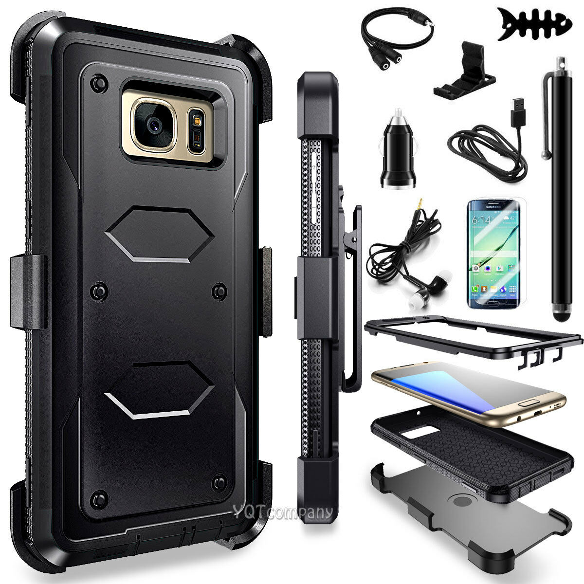For Samsung Galaxy Note 5 Hybrid ShockProof Rugged Hard Case