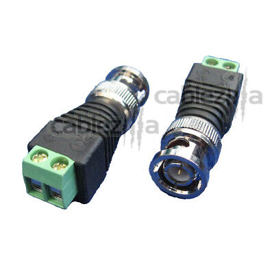 BNC Male PLUG Screw Terminal Connector Cable Adapter Balun CCTV Video Camera LOT