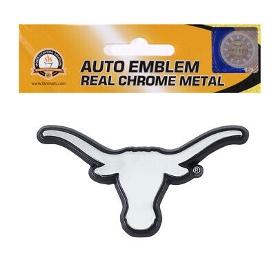 New NCAA Texas Longhorns Real Chrome Metal Car Truck Auto 3D Emblem Ncaa Chrome Auto Emblem