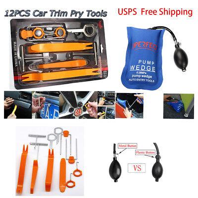 12pc Removal panel car Audio Tools Kit Air Pump wedge for Dash Door Radio Trim