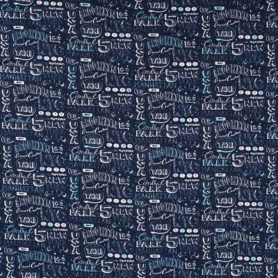 Baumwolljersey Jersey New York USA blau weiß hellblau 1,5m Breite (New Jersey Kostüme)