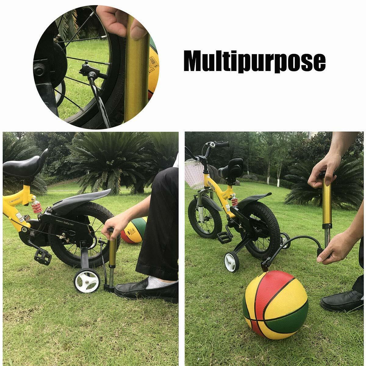 Bike Floor Pump Portable Air Pump Bicycle Ball Pump Inflator