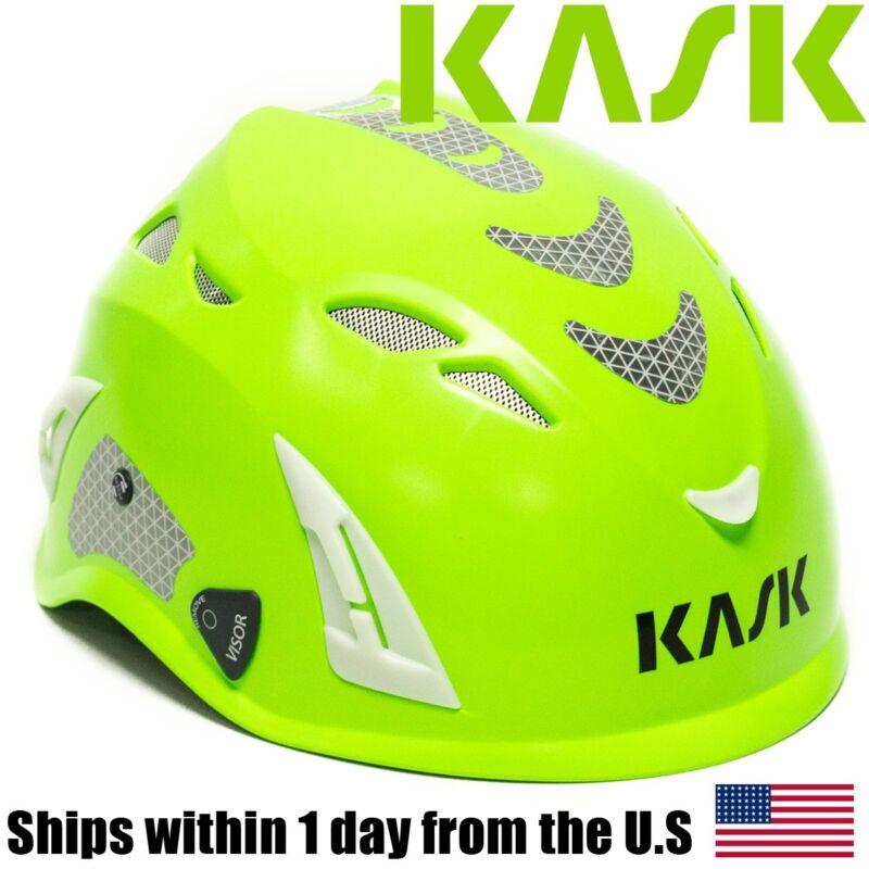 Kask Super Plasma Foursecent Arborist Tree Climbing Helmet High Visibility Lime