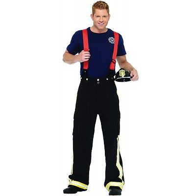 Firefighter Costume Adult Fireman Halloween Fancy Dress