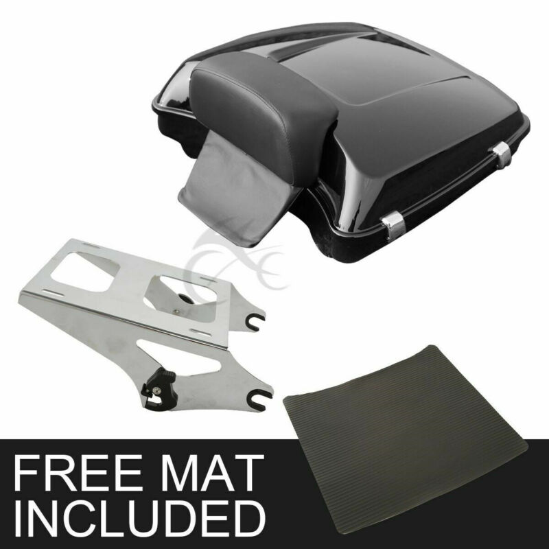 TCMT 10.7 Chopped Tour Pack Trunk W//Latch Fits For Harley Street Road Glide FLH FLT FLHR FLTR 2014-2020 Black Latches