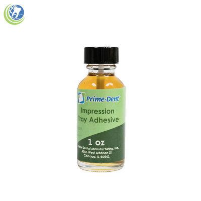 Dental Impression Universal Tray Adhesive 1 Oz 30 Ml Bottle Amber Prime-dent