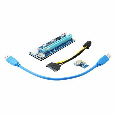 Qumox USB 3.0 PCI-E 1X To 16X Extender Riser Card Adapter Power Cable ETH BTC