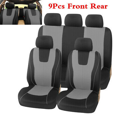 Gray Car Seat Cover Polyester Fabric Protect Covers For Car Interior Accessories