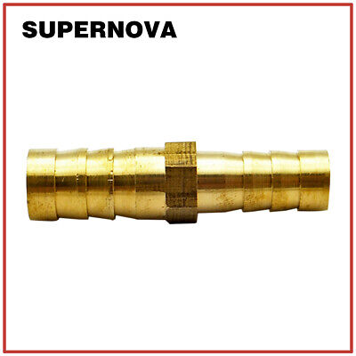 5/16 X 3/8(8mmx10mm) Hose Barb Union Splicer Brass Pipe Fitting Reducer Straight