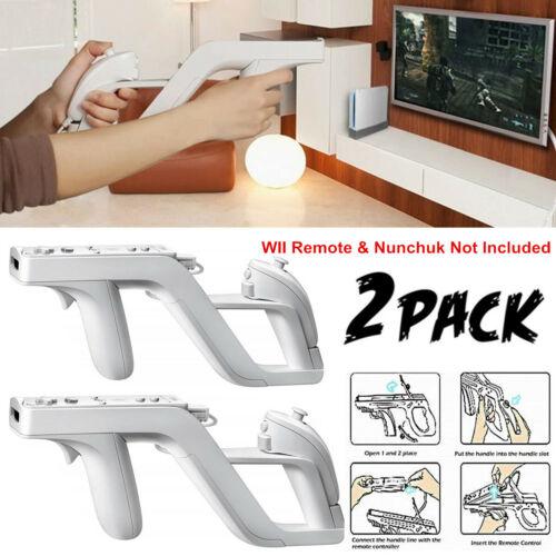 2 Zapper Gun Handle Holder For Nintendo Wii Remote Wireless Controller USA Controllers & Attachments
