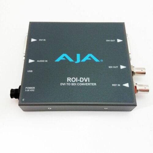 AJA ROI DVI Used  DVI/HDMI to SDI Mini Converter