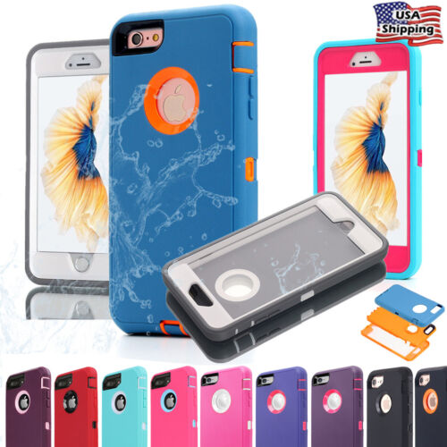 For iPhone 7 8 6 Plus 6s Case Hybrid Full Shockproof Heavy Duty Waterproof Cover