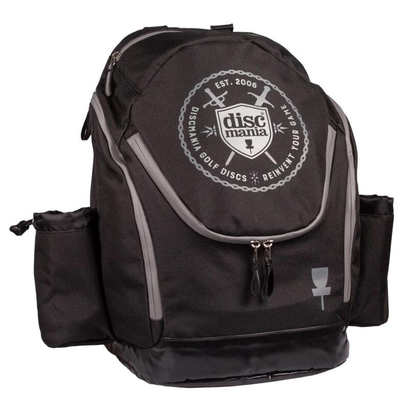Discmania Disc Golf Backpack Bag - Fanatic 2 Black - Holds 22 Discs