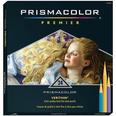 Prismacolor Premier Colored  Verithin Pencils 24 Pack Color Pencils