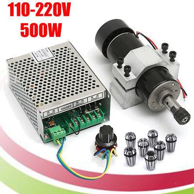500W Fräsmotor Frässpindel Spindle Motor mit Schaltnetzteil + ER11 Spannzange