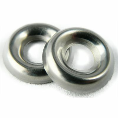 Stainless Steel Cup Washer Finishing Countersunk 14 Qty 25