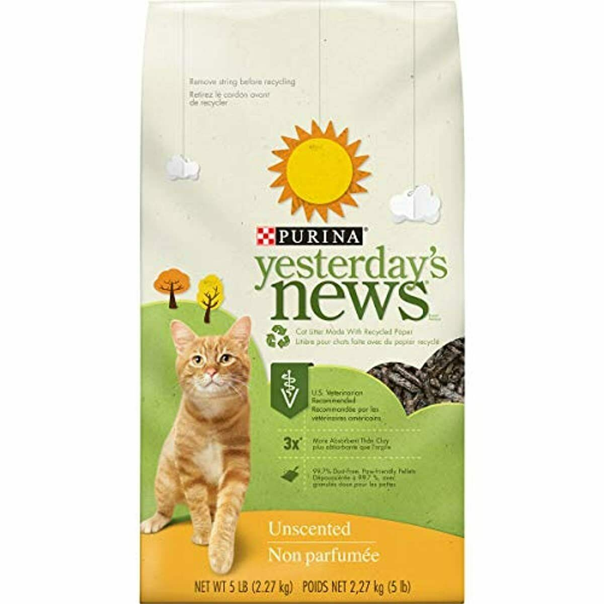 Purina Yesterday's News Unscented Paper Cat Litter