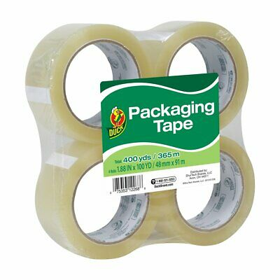 Duck Brand Standard Packing Tape Refill 4 Rolls 1.88 Inch X 100 Yards 240593