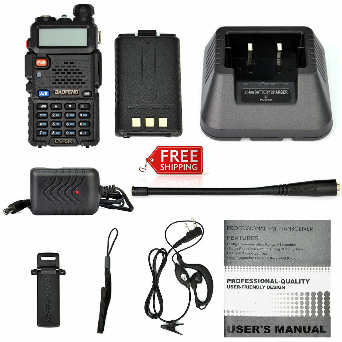 Portable Transceiver  Radio Scanner Handheld Police Fire VHF