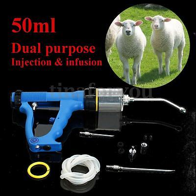 50ml Continuous Drench Gun For Cattle Sheep Goats Oral Injection Infusion