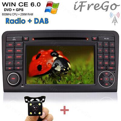 "Rûckfahrkamera+ 7"" HD TFT AUTORADIO GPS NAVI DVD Karte Für BENZ ML GL W164 GL320"