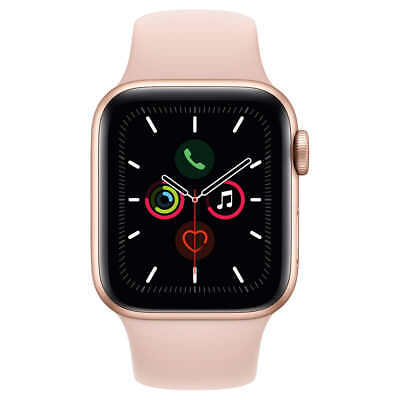 Apple Watch Series 5 GPS 40mm Aluminum Gold Case Pink Sand Sport Band