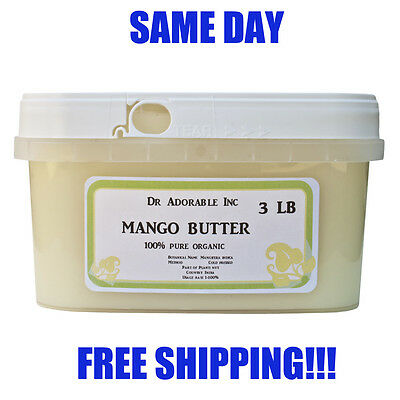 RAW MANGO BUTTER ORGANIC COLD PRESSED PURE 2 OZ 4 OZ 8 OZ-UP TO 12 LB