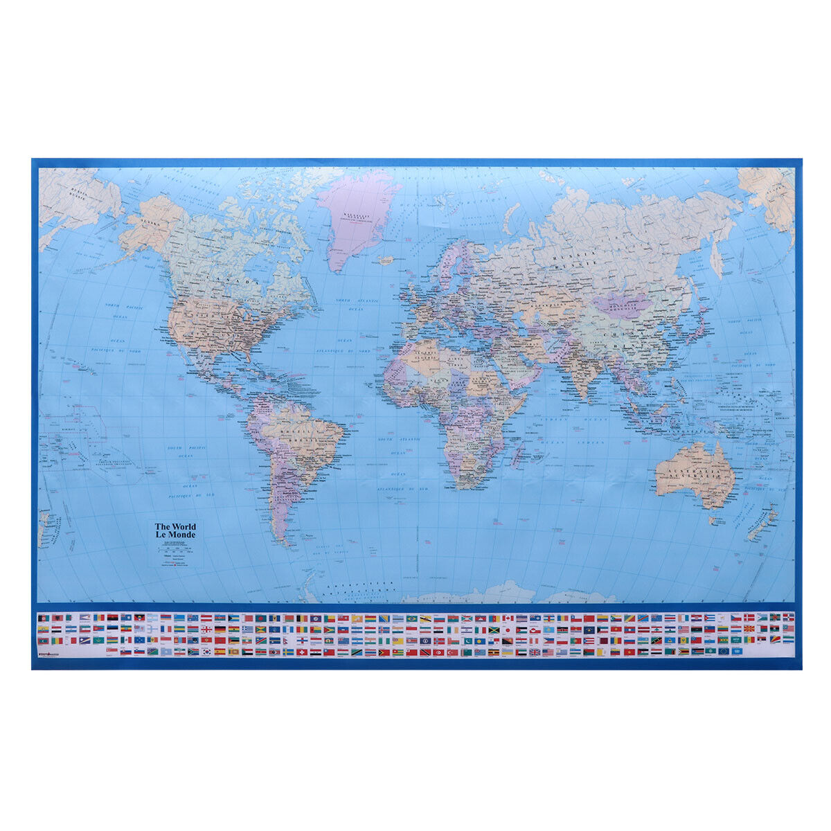 Details about World Map Giant Detailed Full Lamination Decorative Mural on wall maps of the world, giant map of ireland, giant world map of clouds, giant globe ball, giant map of usa, giant world map poster, giant map of germany, giant map of africa, giant map of japan, giant europe map, giant map of asia, maps that change your view of the world, giant canada map,