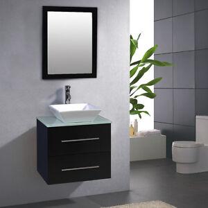 24 Bathroom Ceramic Porcelain Sink Wall Mount Cabinet